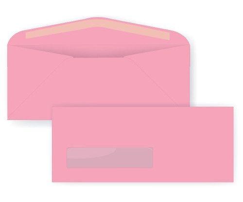 Pastel Pink Digital Window Envelopes