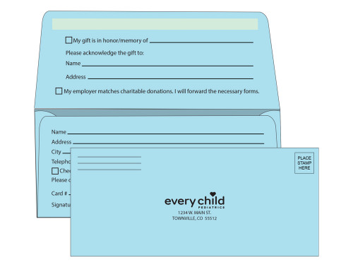 Custom # 9 Remittance Envelopes - Pastel Colors - EN1096
