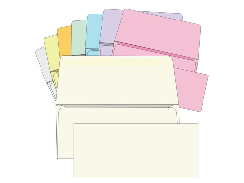 #9 Blank Remittance Envelopes - Colored -  EB1508