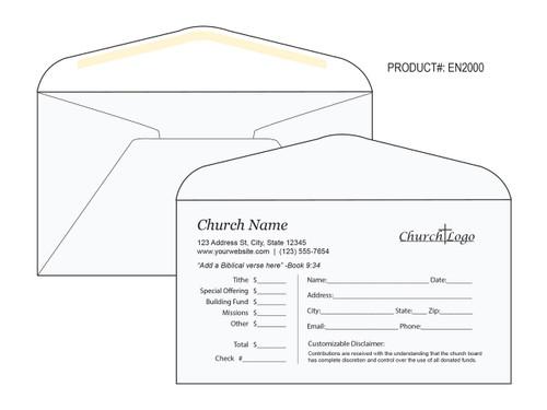 Custom Tithe Envelopes - Easy to Use - EN2000