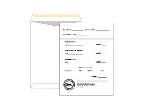 Custom Fundraiser Envelopes - 9x12 Catalog - EN1082