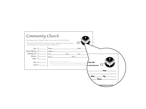 Church Tithing Envelopes - EN1103