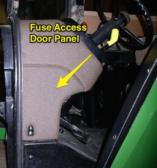 Fuse Access Door Panel For John Deere 4055 4255 4455 4555 4755 4955 4560 4760 4960: John Deere Tractor Fuse Box At Shintaries.co