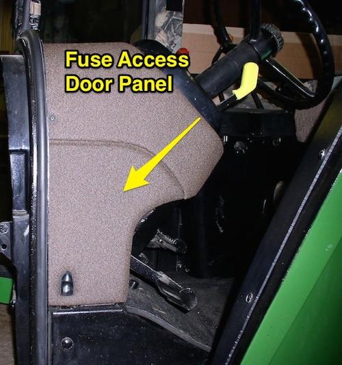 fuse access door panel for john deere 4055 4255 4455 4555 4755 4955 4560  4760 4960