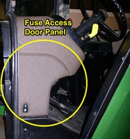 Fuse Access Door Panel - John Deere 55/60 Series