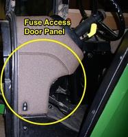 fuse access door panel - john deere 55/60 series