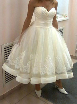 18352f96aeddb Shop 2019 Long & Short Beach Tea Length Sweetheart A Line Lace Up Summer Bridal  Gowns