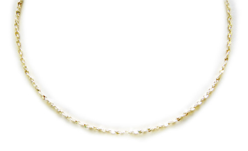 616 Chain Diamond cut twisted nugget - Compare to 14K Yellow Gold Diamond Cut French rope.