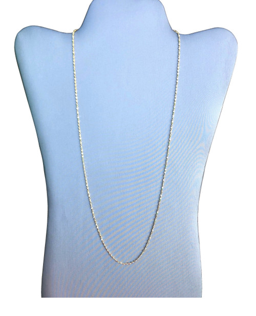 1mm Gold Plated Diamond Cut Twisted Nugget Chain (616G)