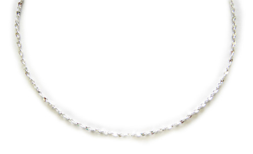 1mm Silver Diamond Cut Twisted Nugget Chain (616S)
