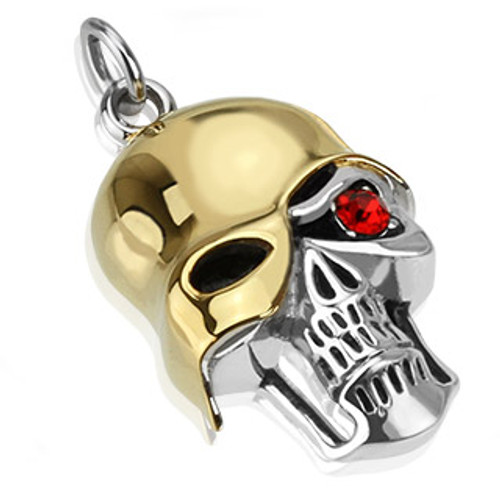 Soldier of Death w Red Eye Stainless Steel Pendant