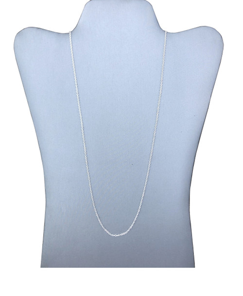1.75 mm Silver Plated Diamond-Cut Cable Chain