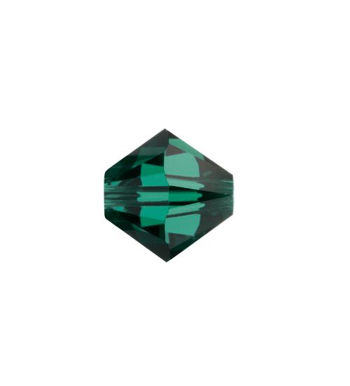 May Swarovski Bicone Bead - Emerald Pkg of 12