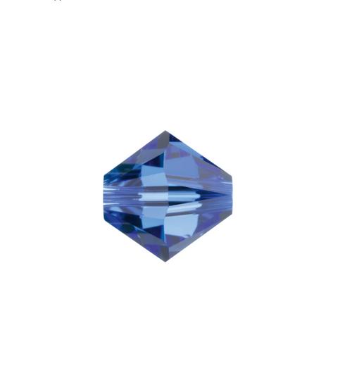 September Swarovski Bicone Bead - Sapphire Pkg of 12
