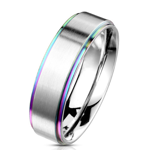 6mm Silver Center w/Rainbow Edge (SS286)