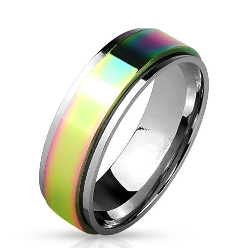 6mm Rainbow Spinner w/Silver Edge (SPN306)