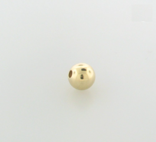 4mm Gold Filled Smooth Plain Round Bead
