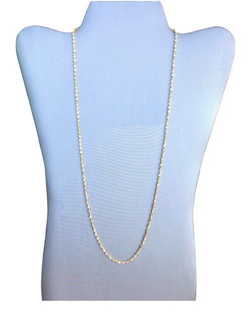1.5mm Gold Plated Diamond Cut Twisted Nugget Chain (CG930)
