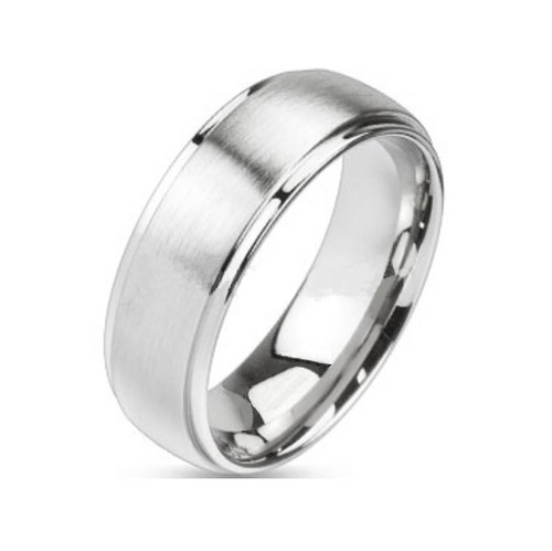 8mm Silver Polished Center w/Silver Edge (SS608)
