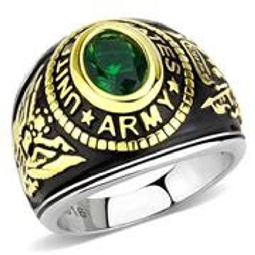 Women's Stainless Steel Army Military Ring