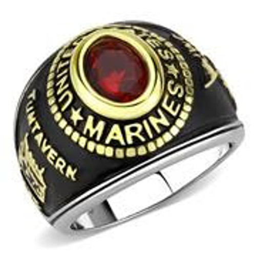 Women's Stainless Steel Marine Military Ring