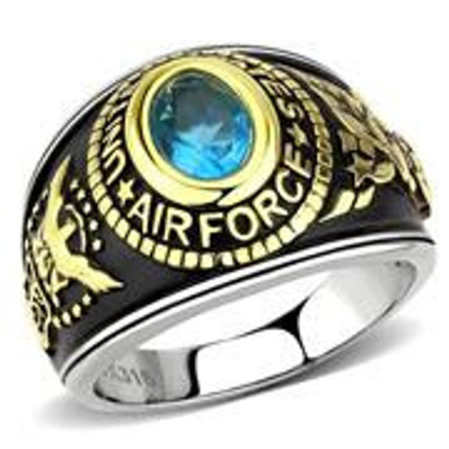 Women's Stainless Steel Air Force Military Ring