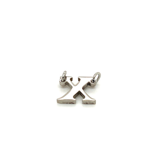 """Stainless Steel Letter """"X"""" in Silver"""