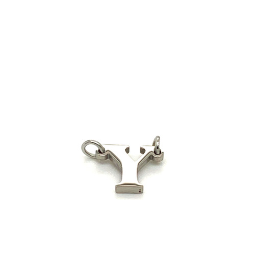 """Stainless Steel Letter """"Y"""" in Silver"""