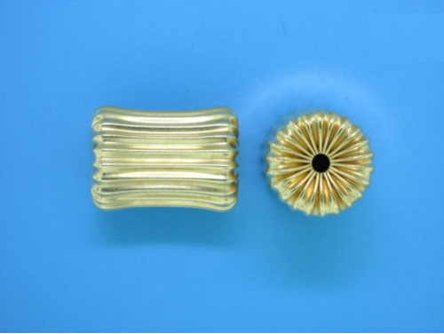 Gold Filled Corrugated Cylinder Bead 14mm x 19mm
