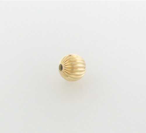 5mm Gold Filled Corrugated Round Bead 14/20