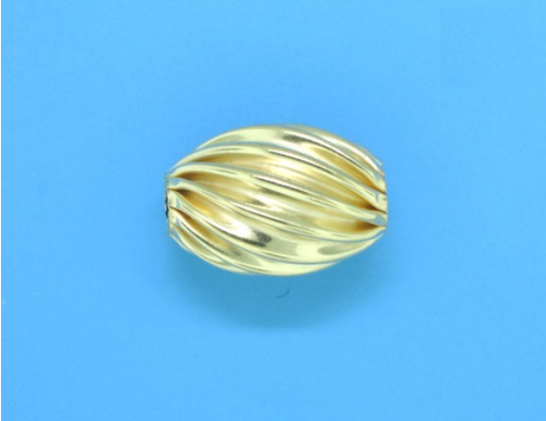 Gold Filled Oval Corrugated 9.3mm x 13mm
