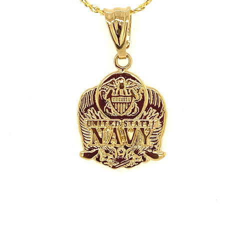 Military Medallion Charm-NAVY