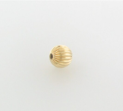 Gold Filled Corrugated Round Bead 6mm 14/20