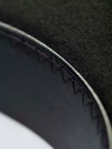 Close Up of Mens Black Bowler Hat Fabric