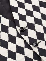 Harlequin Black and White Vest