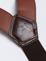 Chestnut Brown Leather Suspenders