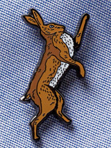 Hares Lapel Pins