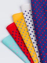 5 Pack Dotty Handkerchiefs