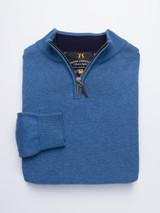 Quarter Zip Cotton Sweater