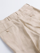 Buttoned Hip Pockets on Natural Linen Suit