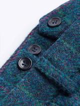 Close Up of Mens Marine Blue Harris Tweed 2 Piece Suit Pants Detail