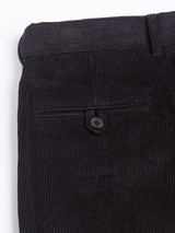 Close Up of Mens Black Corduroy Pants Fabric