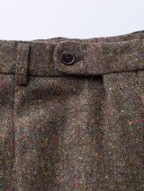 French Bearer Fly Font of Bronze Fine Donegal Tweed Pants