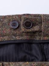 Adjustable Waistband on Bronze Fine Donegal Tweed Pants