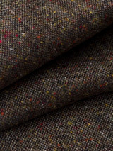 Fabric Close-up of Bronze Fine Donegal Tweed Pants