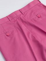 Close Up of Mens Pink Flat Front Chinos Rear Pockets