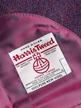 Close Up of Mens Burdock Purple Harris Tweed Lining & Orb