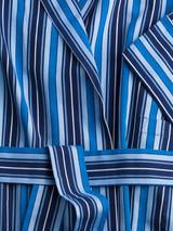 Matching belt of Navy & Blue Organic Cotton Club Stripe Dressing Gown