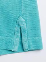 Side vent Aqua Washed Polo Shirt