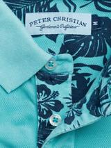 Placket Aqua Washed Polo Shirt
